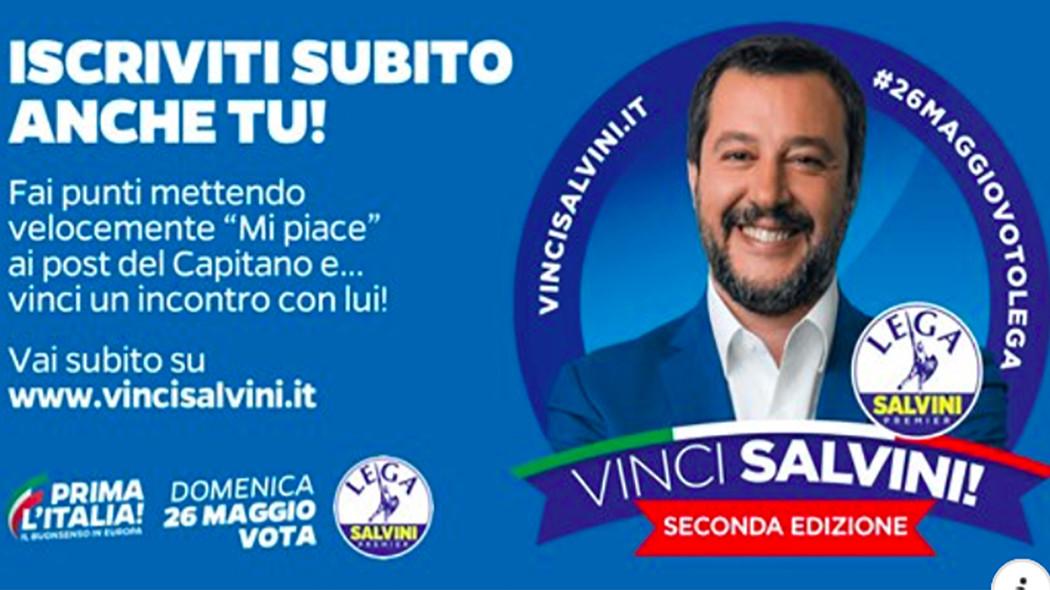 Manifesto del Concorso Vinci Salvini