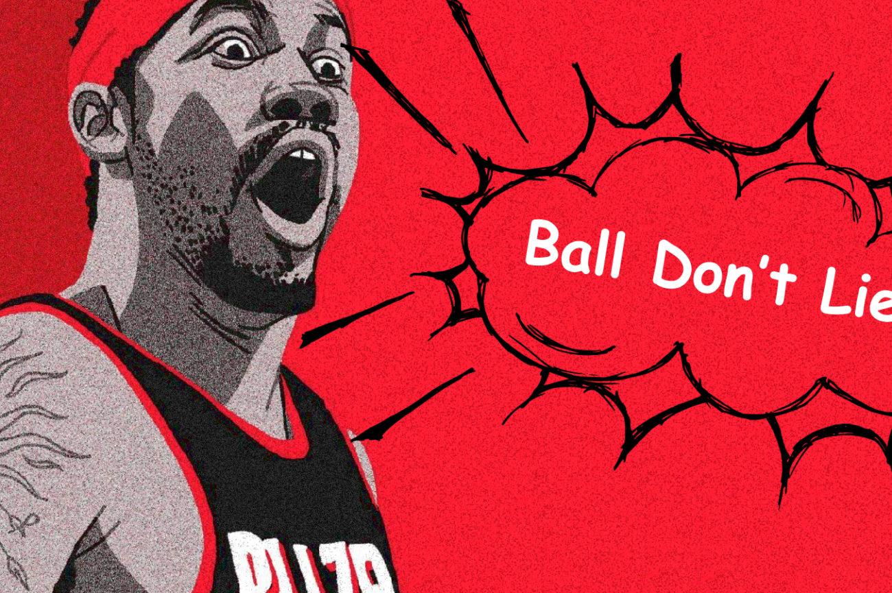 Murales di Rasheed Wallace che grida Ball Don't Lie